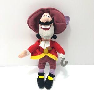 "Disney Peter Pan Captain Hook 10"" Plush"